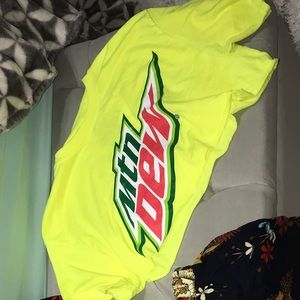 Mtn dew crop top